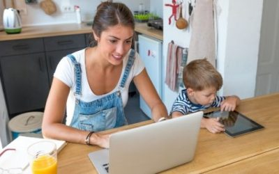 Ways to nurture your child while you work