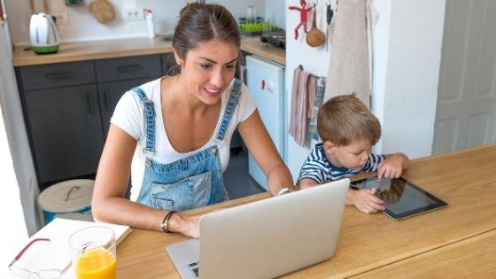 Ways to nurture your child while you work